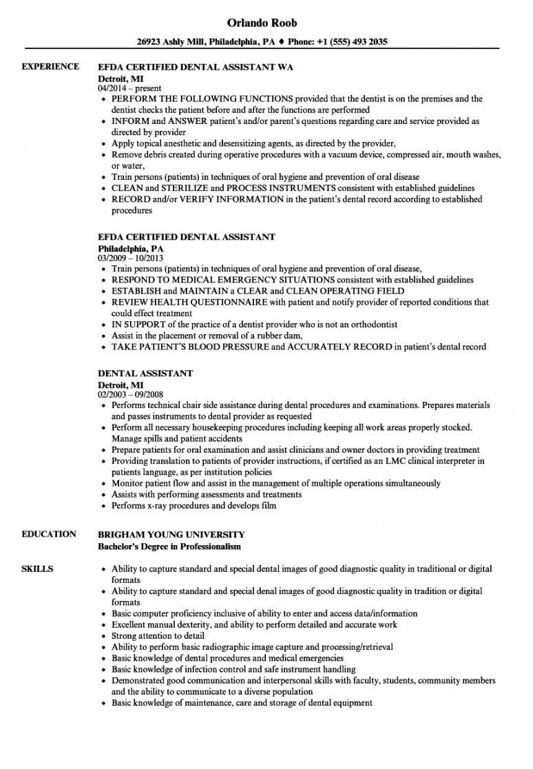free dental assistant resume samples velvet jobs dental