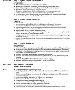 free digital marketing intern resume samples  velvet jobs social media intern job description template pdf