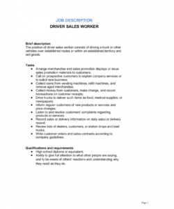 free driver sales worker job description template  by business truck driver job description template and sample