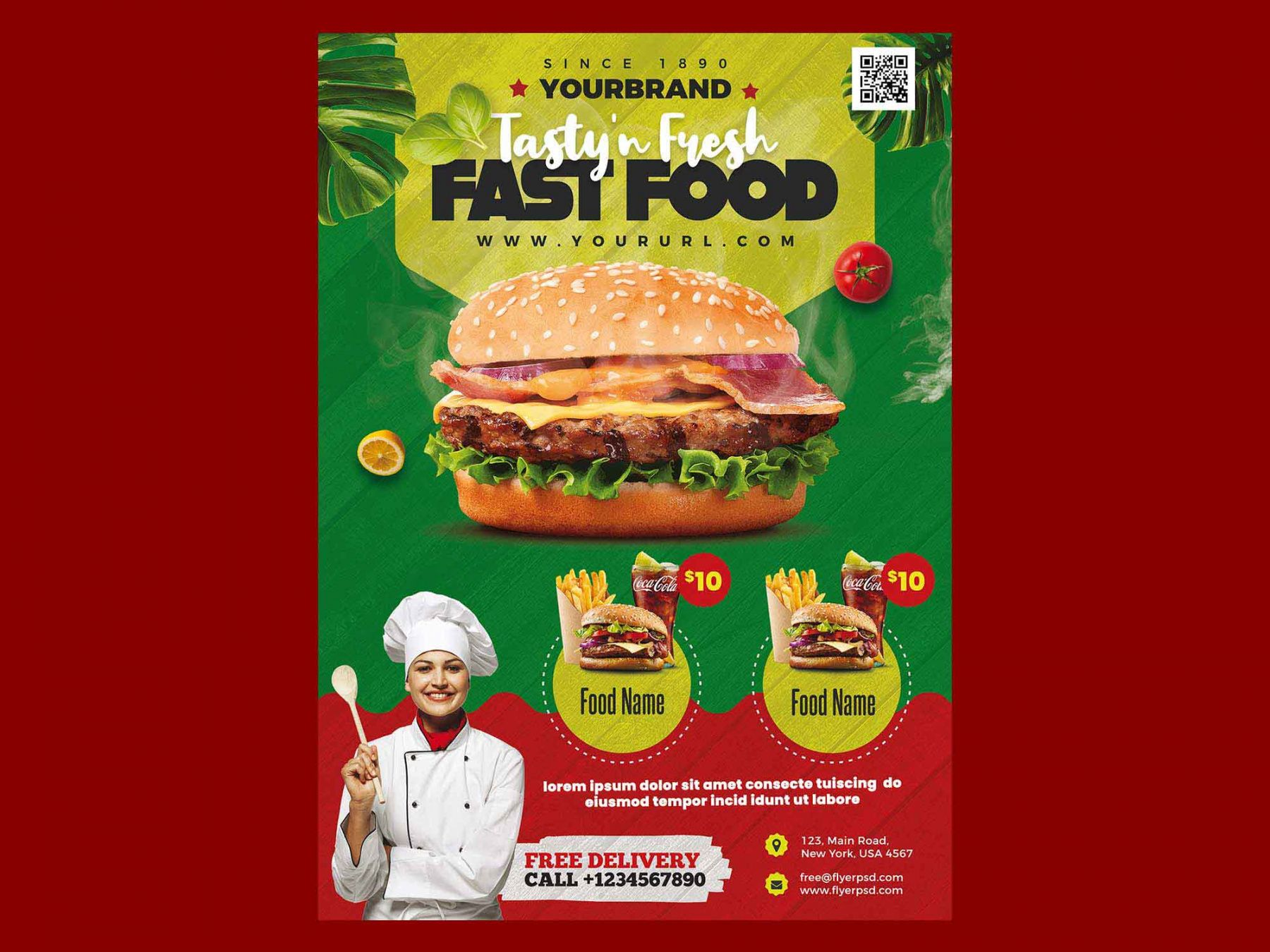 free fast food restaurant menu flyer template psd food delivery flyer template doc