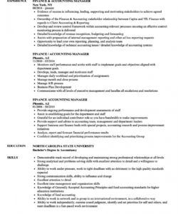 free finance & accounting manager resume samples  velvet jobs accounting manager job description template pdf