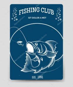 free fishing club brochure flyer template 121268382 fishing flyer template