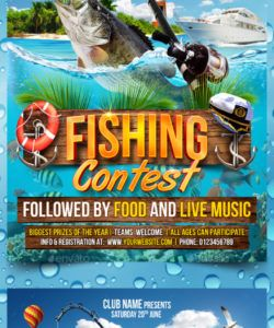 free fishing flyer graphics designs & templates from graphicriver fishing flyer template doc