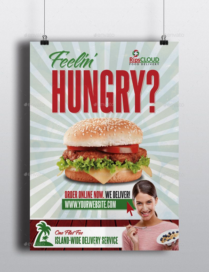 free food delivery flyer food delivery flyer template