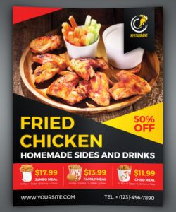 free fried chicken restaurant flyer template new restaurant flyer template