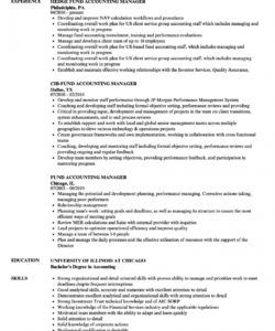 free fund accounting manager resume samples  velvet jobs accounting manager job description template and sample