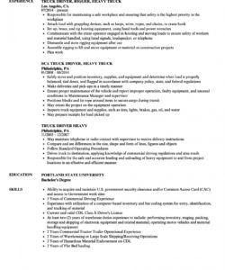 free heavy truck driver resume samples  velvet jobs truck driver job description template doc