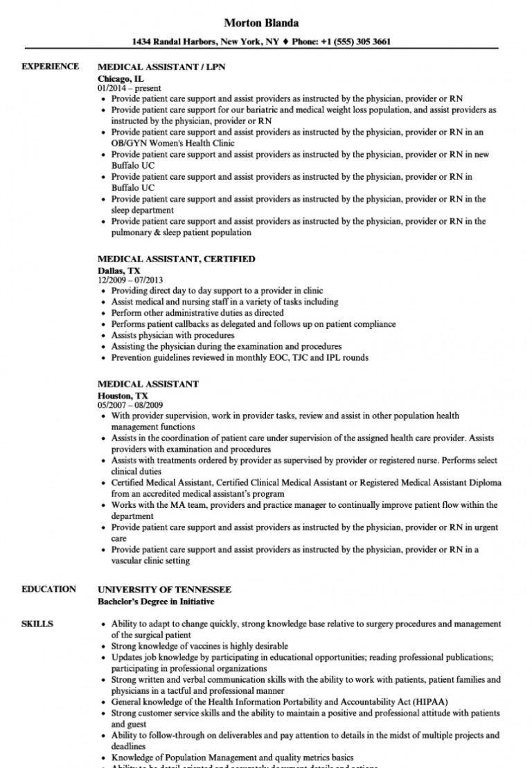 free medical assistant resume samples velvet jobs medical