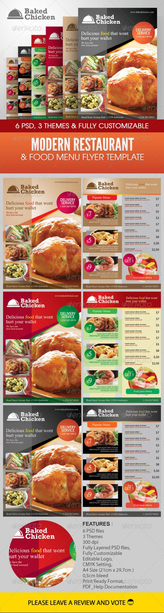 free modern restaurant food menu flyer template modern restaurant food menu flyer template doc