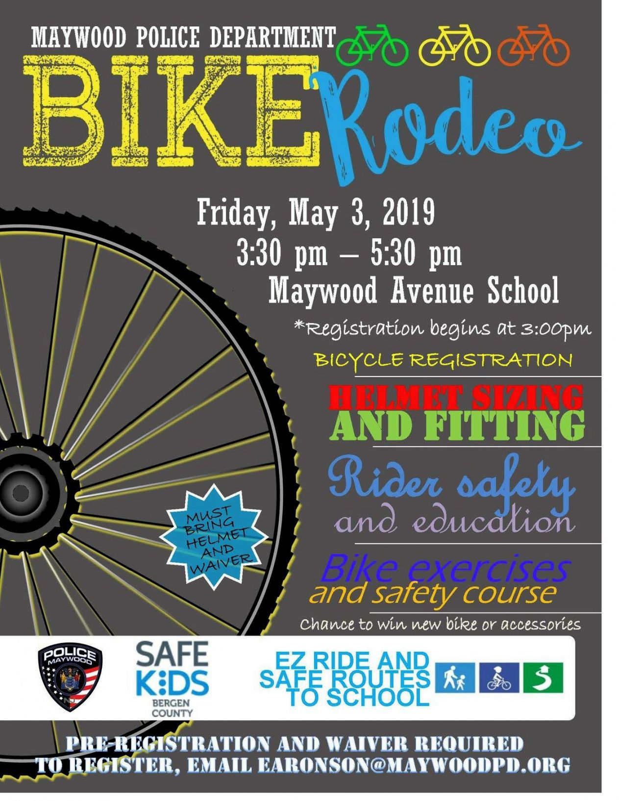 free municipal calendar  borough of maywood nj bike rodeo flyer template