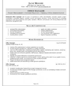 free office manager resume office manager job description template and sample