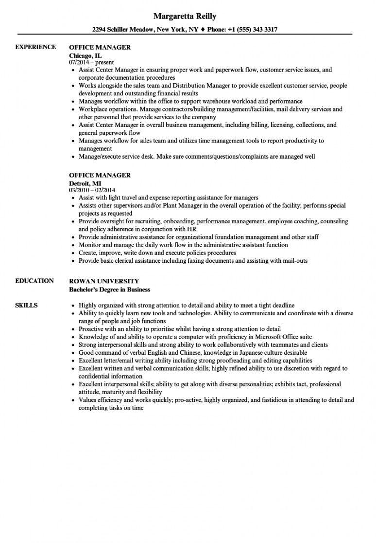 free office manager resume samples  velvet jobs office manager job description template and sample