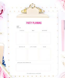 free party planning checklist printable pdf party planning checklist template