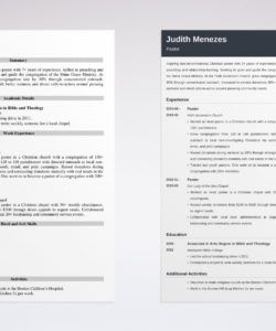 free pastor resume template guide & 20 examples pastor job description template and sample
