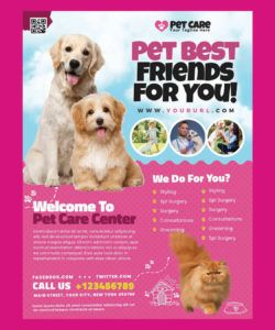 free pet care flyer template psd pet care flyer template and sample