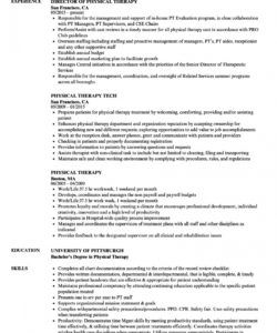 free physical therapy resume samples  velvet jobs physical therapist job description template and sample