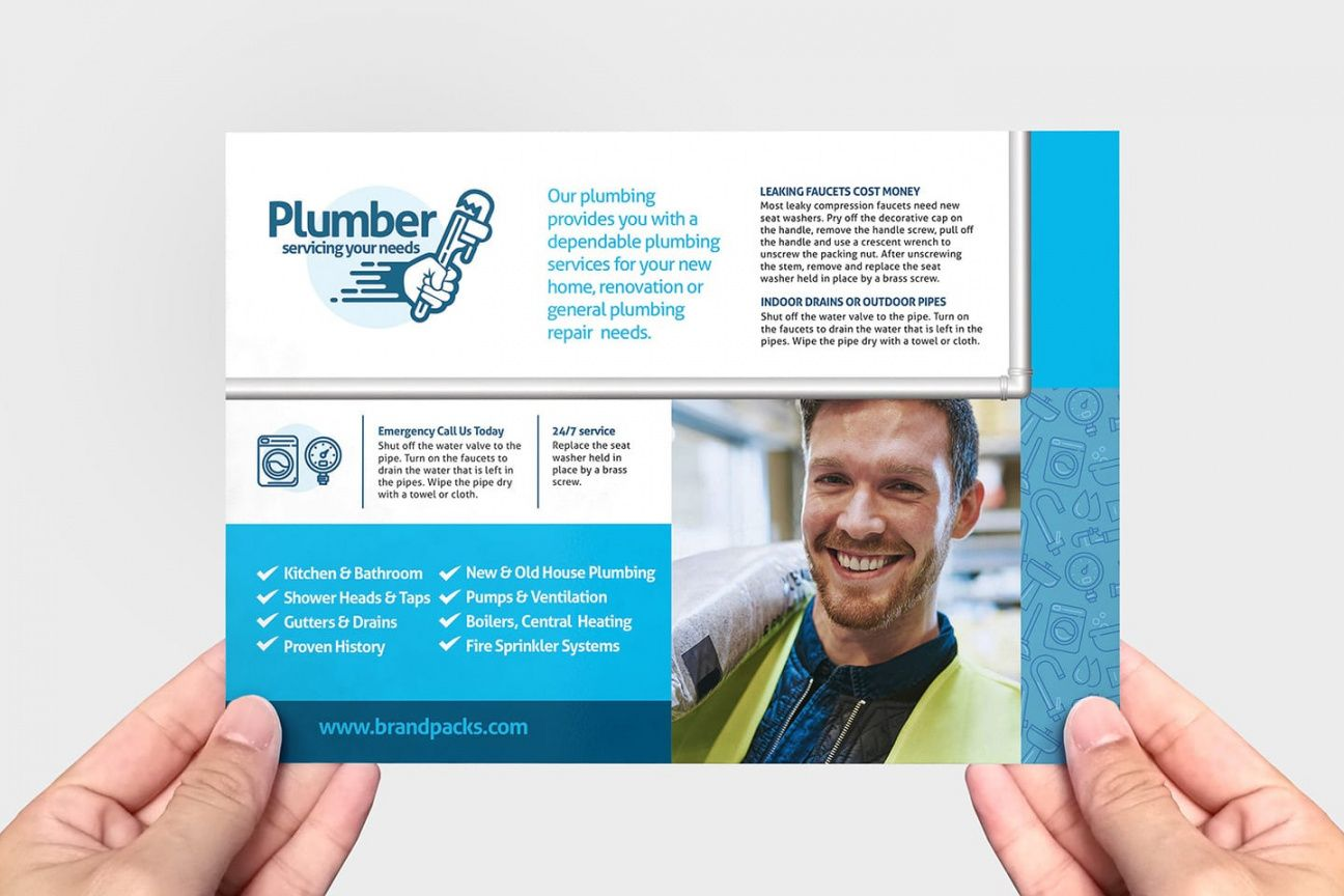 free plumbing service flyer template in psd ai & vector  brandpacks plumbing flyer template and sample