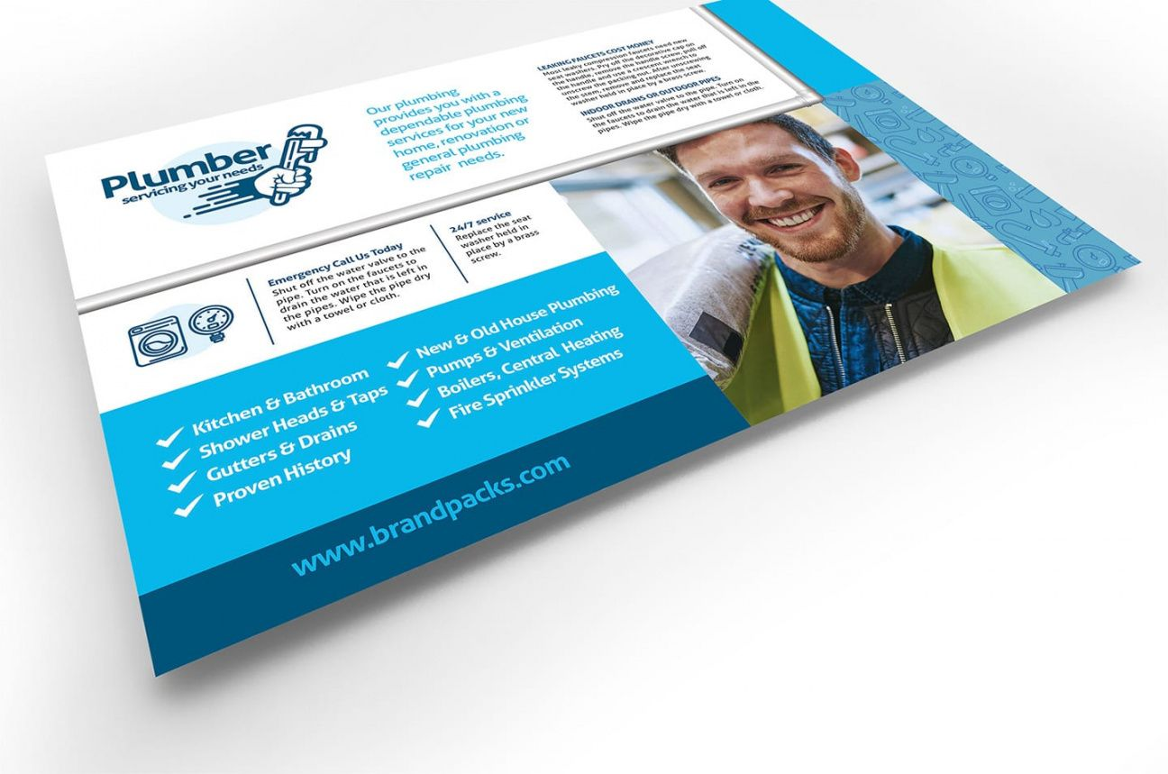 free plumbing service flyer template in psd ai & vector  brandpacks plumbing flyer template pdf