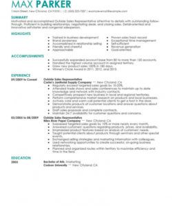 free professional outside sales representative resume examples outside sales job description template pdf