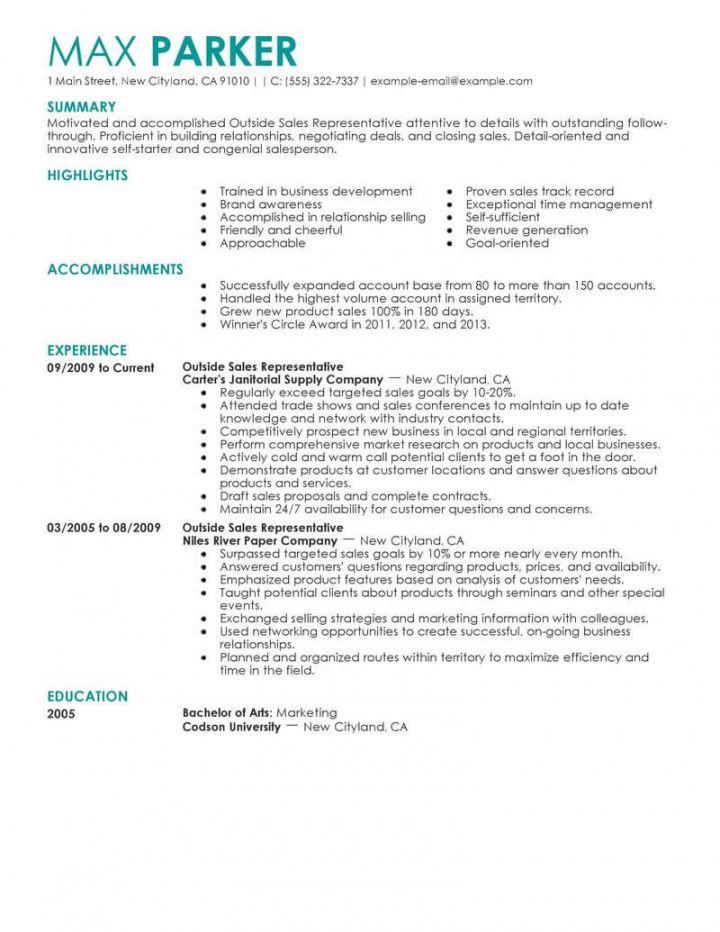 free professional outside sales representative resume examples outside sales job description template pdf
