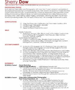 free professional videographer templates to showcase your talent videographer job description template doc