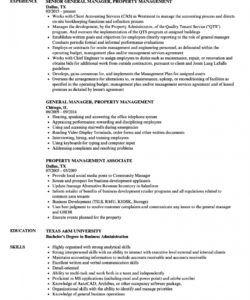 free property management resume samples  velvet jobs property manager job description template and sample