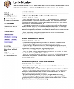 free property manager resume example & writing tips for 2020 property manager job description template pdf