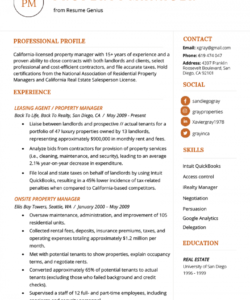 free property manager resume example & writing tips  resume genius property manager job description template and sample