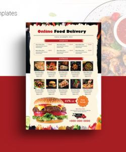 free restaurant food delivery flyer food delivery flyer template doc