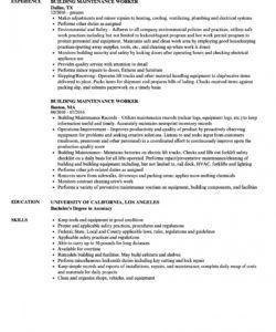 free resume  resume builder job description image inspirations building maintenance job description template pdf
