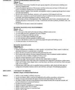 free resume  resume builder jobescription building maintenance building maintenance job description template and sample