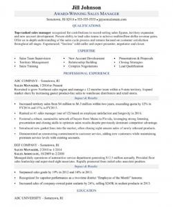 free sales manager resume sample  monster sales manager job description template doc