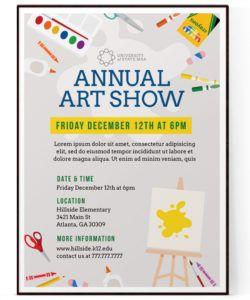 free school art show flyer template psd  docx craft show flyer template and sample