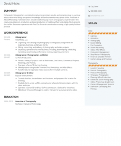 free videographer  resume samples and templates  visualcv videographer job description template pdf