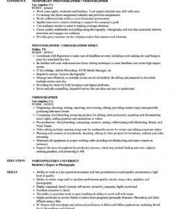 free videographer resume samples  velvet jobs videographer job description template