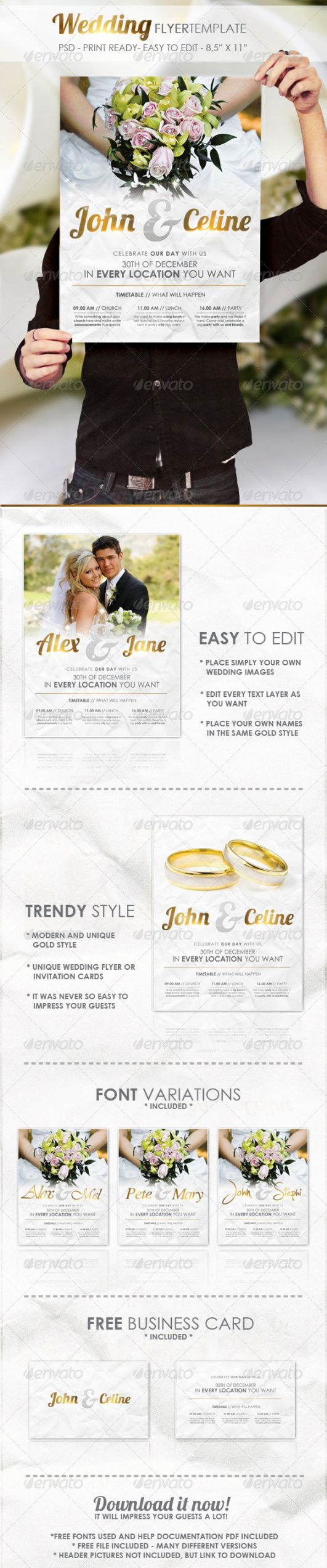 free wedding flyer template graphics designs & templates wedding invitation flyer template pdf