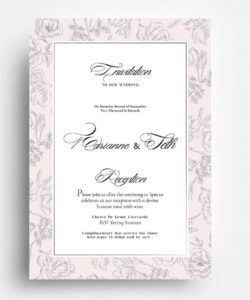 free wedding stationery templates for photoshop & illustrator wedding invitation flyer template doc