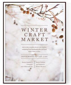 free winter craft fair flyer template psd  docx craft show flyer template