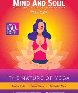 free yoga class flyer free psd template  psddaddy yoga class flyer template pdf
