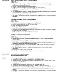 general maintenance worker resume samples  velvet jobs building maintenance job description template pdf
