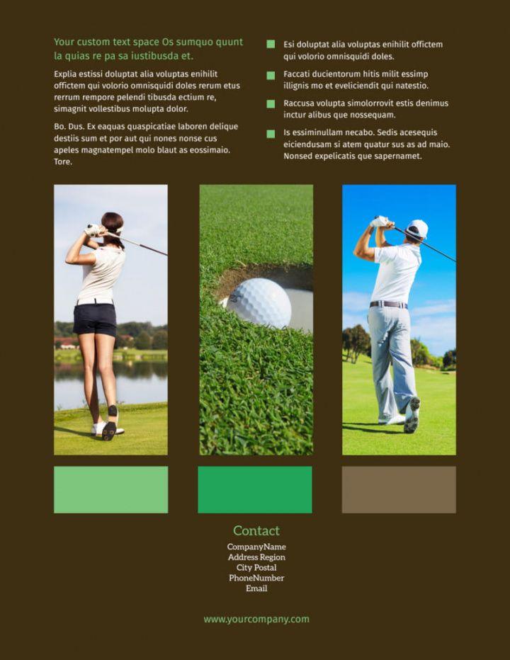 golf tournament flyer template  mycreativeshop golf tournament fundraiser flyer template and sample