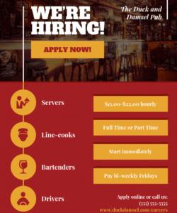 hiring business flyer template now hiring template flyer
