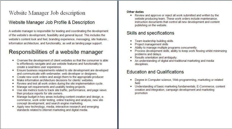 internet job descriptions sample sample of internet job web designer job description template and sample