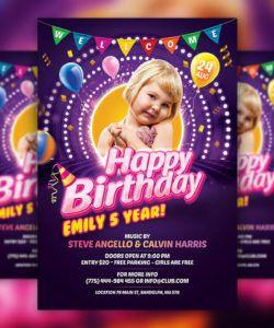 kids birthday party invitation flyer psd template download party invitation flyer template