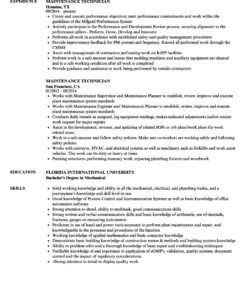 maintenance technician resume samples  velvet jobs maintenance technician job description template doc
