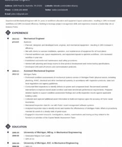 mechanical engineer resume examples template & guide mechanical engineer job description template pdf