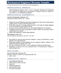 mechanical engineer resume sample & writing tips  resume genius mechanical engineer job description template pdf