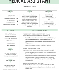 medical assistant resume sample & writing guide  resume genius medical assistant job description template doc