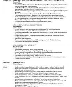 pastor resume samples  velvet jobs pastor job description template and sample