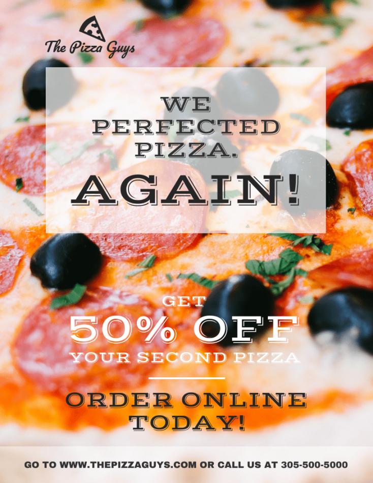 pizza restaurant flyer pizza fundraiser flyer template